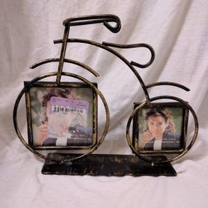 Bicycle Shaped Picture Frame Metal Decor